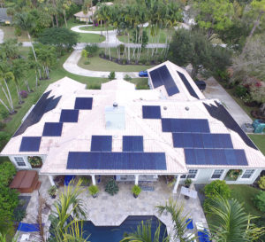 Solar Panels installed on pink roof using solar stack